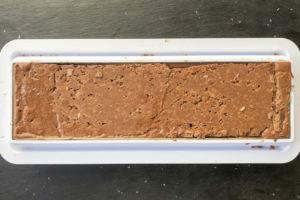 pose du croustillant feuillantine de la buche chocolat thermomix