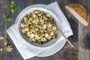 Salade lentille céleri noix et menthe au Thermomix