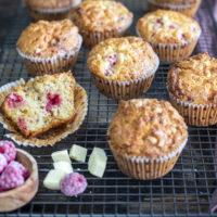 muffins chocolat blanc framboise au Thermomix