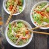 Nouilles sautées au Thermomix aux légumes et filet mignon