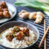 Boulettes de porc, sauce teriyaki